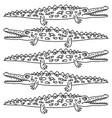 funny crawling crocodile - vector image