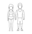 isolated cute couple vector image
