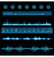 Notes and sound waves vector image