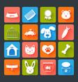 Pets Icons Set Flat vector image