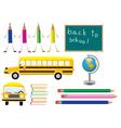 school symbols vector image