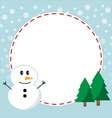 Winter christmas frame vector image
