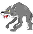 Cartoon wolf vector image vector image