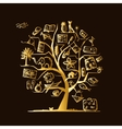 Travel tree concept for your design vector image vector image