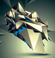 3D abstract technology perspective geometri vector image