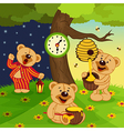 teddy bears daily routine vector image vector image