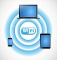 Wifi network with computers vector image vector image