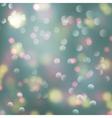 Bokeh light blurry romantic background vector image