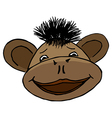 cartoon style monkey head vector image