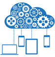 Cloud Computing Flat Concept vector image