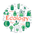 green ecology concept vector image