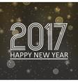 happy new year 2017 on dark night bokeh background vector image