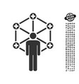 medical network administrator icon with men bonus vector image