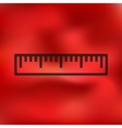 ruler icon on blurred background vector image