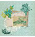 Scrapbook Design Elements - Venice Vintage Card vector image