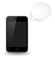 Smart Phone Speech Bubble vector image