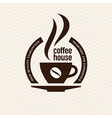 Vintage coffee label vector image
