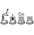 tea preparation ceremony vector image vector image
