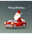Christmas greeting card with Santa Claus retro vector image