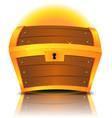 closed cartoon treasure chest vector image