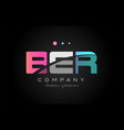 Ber b e r three letter logo icon design vector image
