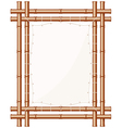 Framed Bamboo Banner vector image vector image