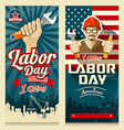 Happy Labor day american banner collections vector image