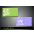 business card with a bunch of grapes vector image