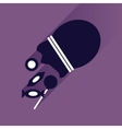 flat icon with long shadow Candy in bag vector image