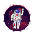 astronaut is flying in outer space concept vector image