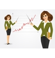 beautiful young business woman vector image