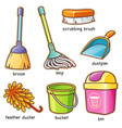 cleaning supplier vocabulary vector image