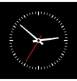 Clock dial on a black background vector image