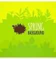 Flat spring background bright green leaves vector image