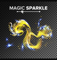 gorgeous sparkling effect flying vector image