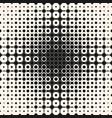 halftone seamless pattern with circles squares vector image