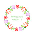 Hand paint watercolor frame with vegetables set - vector image