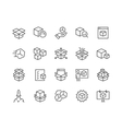 Line Abstract Product Icons vector image