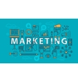 Marketing set of icons in thin line vector image