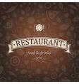 Retro Brown Restaurant Menu vector image