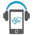 Smartphone with headphones vector image