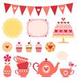 Valentine tea party vector image