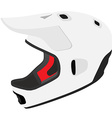 White snowboard helmet vector image