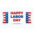 Happy Labor day Holiday in United States of vector image
