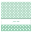 Sweet mint green card or invitation with dots vector image vector image