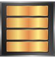 golden plates vector image