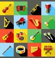 digital green music instruments vector image vector image