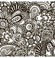 Doodle monochrome print Seamless background vector image
