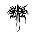 Tribal tattoo with sword vector image vector image