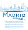 Outline Madrid Skyline vector image